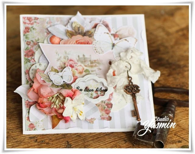 Studio Yasmin - DT Card for Scrapberry's :) Fuzzy cut the Butterflies Collection.