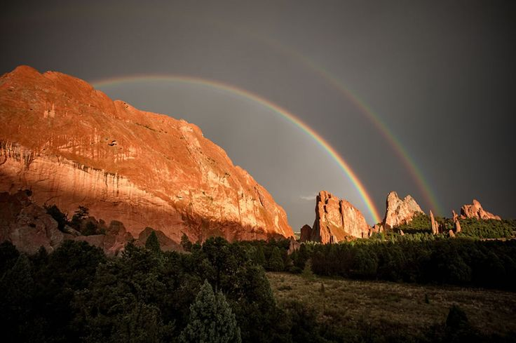 Incredibly beautiful double rainbows (20 pictures)