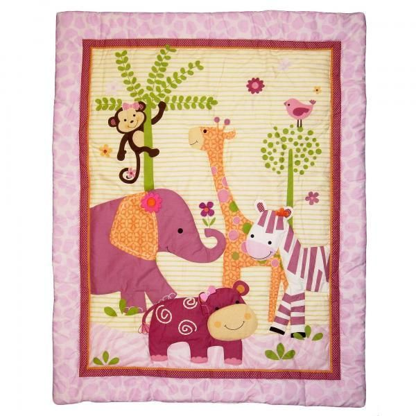 """Lambs and Ivy 3 Piece Bedding Set """"Lil Friends"""""""