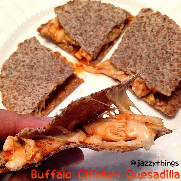 buffalo chicken quesadillas. Photo by jazzythings
