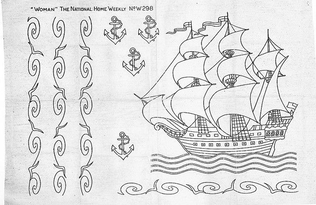 Embroidery pattern   w298_full by bcampbell_to, via Flickr