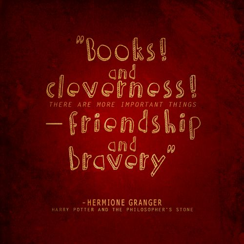 """Harry Potter Friendship Wallpaper Quotes: Hermione Granger """"Books And"""