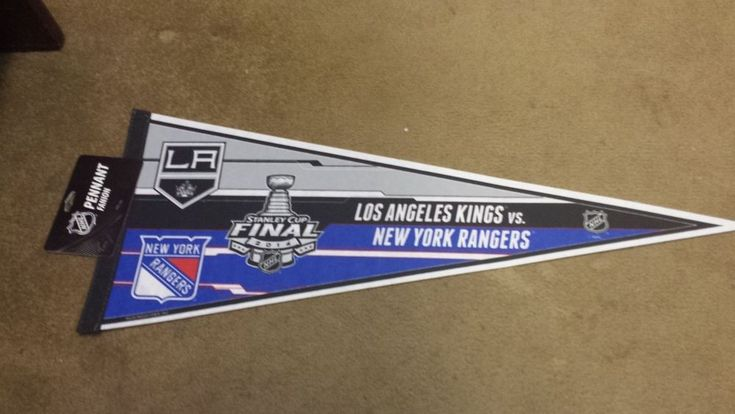New York Rangers VS Los Angeles Kings 2014 Stanley Cup Finals Pennant #NewYorkRangers