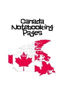 Canada Notebooking Pages