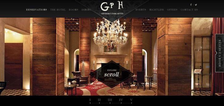 Gramercy Park Hotel New York Website Has A Really Nice Web Design Check It Out Now And Find Other Great Designs