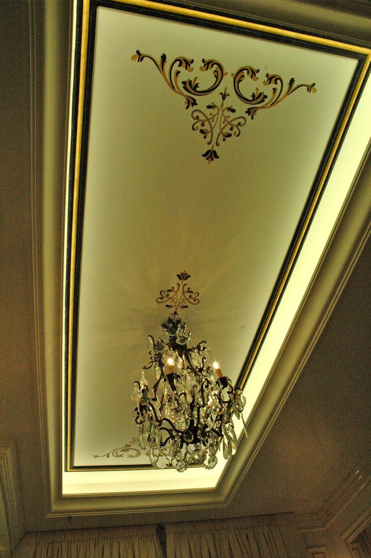 painted bathroom ceiling by Manuela Palinginis