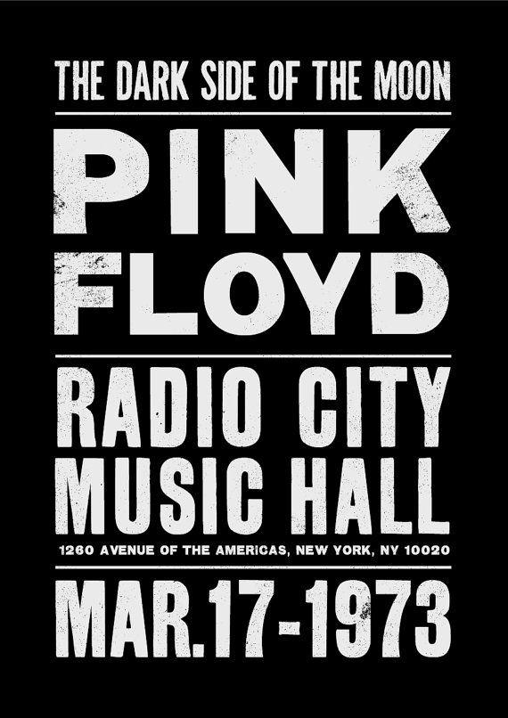 Pink Floyd concierto cartel grabado música inspirada a