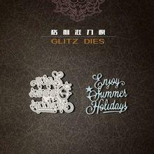 Disfrute de vacaciones de verano del metal troquelado muere scrapbooking carpeta de grabación en relieve juego para sizzix fustella pez gordo de la máquina de corte(China (Mainland))