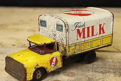 Tin Toy Milk Truck Yonezawa Japan - Friction