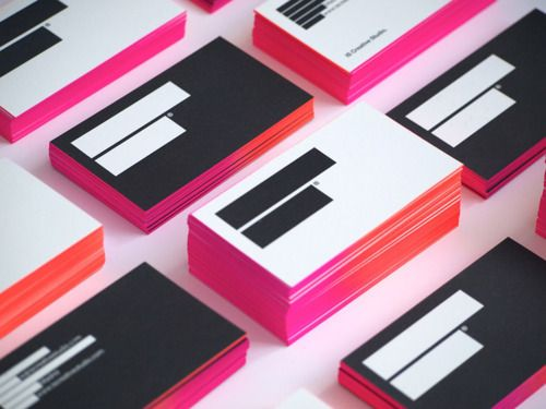 ombre edge business cards