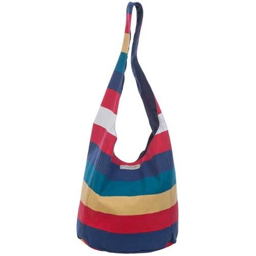 Sunnylife Beach Bag  O Bag Brible Multi Stripe  30x 32x 2 cm  Canvas, Cotton  $44.95