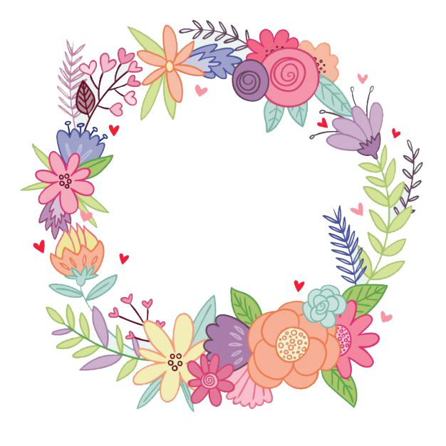 Watercolor Flowers Png Ring