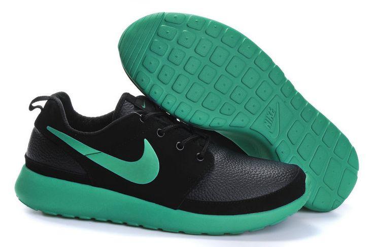 2014 nike roshe run black green men running shoes size 40-44  $89.99 free shipping fee