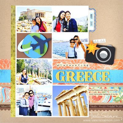 Cool travel page by Valerie Salmon!: Scrapbook Travel, Scrapbook Ideas, Travel Scrapbook Layout, Scrapbook Layouts, Scrapbooking Greece, Travel Layout, Greece Travel, Scrapbooking Travel, Vsalmon Discoveringgreece Cr