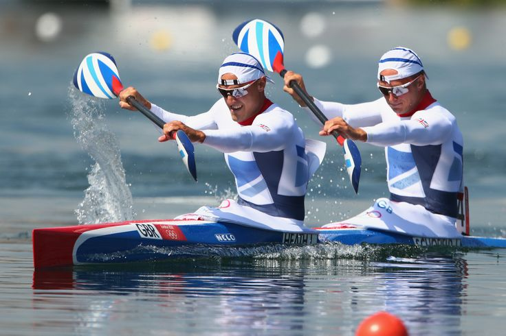 Liam Heath, Jon Schofield winning bronze in the canoe sprint