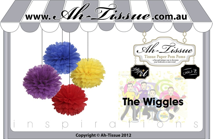 The Wiggles Party theme idea... I could make these i think...