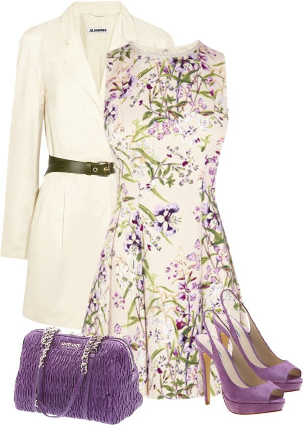 """Floral Dress"" by maggie-jackson-carvalho on Polyvore for engagement party - wear pashmina over to make this modest for me"