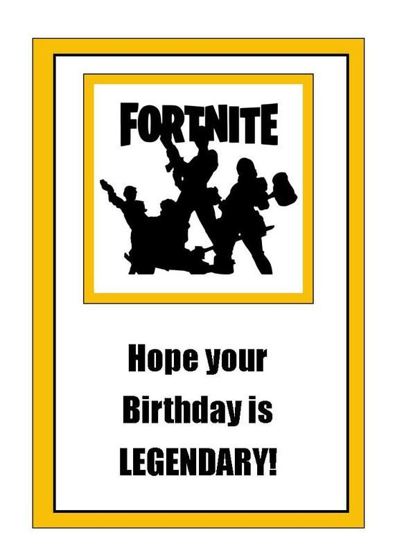 graphic relating to Fortnite Birthday Card Printable referred to as impression 0 Fortnite Content birthday playing cards, Birthday playing cards