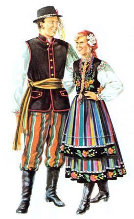 Фотографии польских национальных костюмов