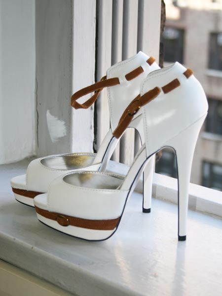 Aleida.net: bebe Womens Aerielle Platform Sandal in White Leather Rawhide StrapsWhite Shoes, Girls Models, White Outfit, Beautiful Heels, White Leather, Beautiful Shoes, High Heels, Aeriell Platform, Platform Sandals