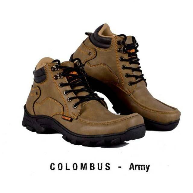 Original Hummer Colombus Sepatu Boot Pria Model Sepatu Boot Pria