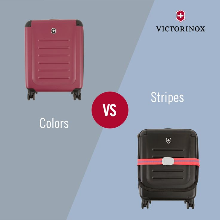 Colors vs. Stripes: Which suitcase is easier to recognize at the baggage claim? ‪#‎QuestionOfTheDay‬ ‪#‎WhichTypeAreYou‬ ‪#‎Victorinox‬ ‪#‎Colors‬ ‪#‎TravelGear‬