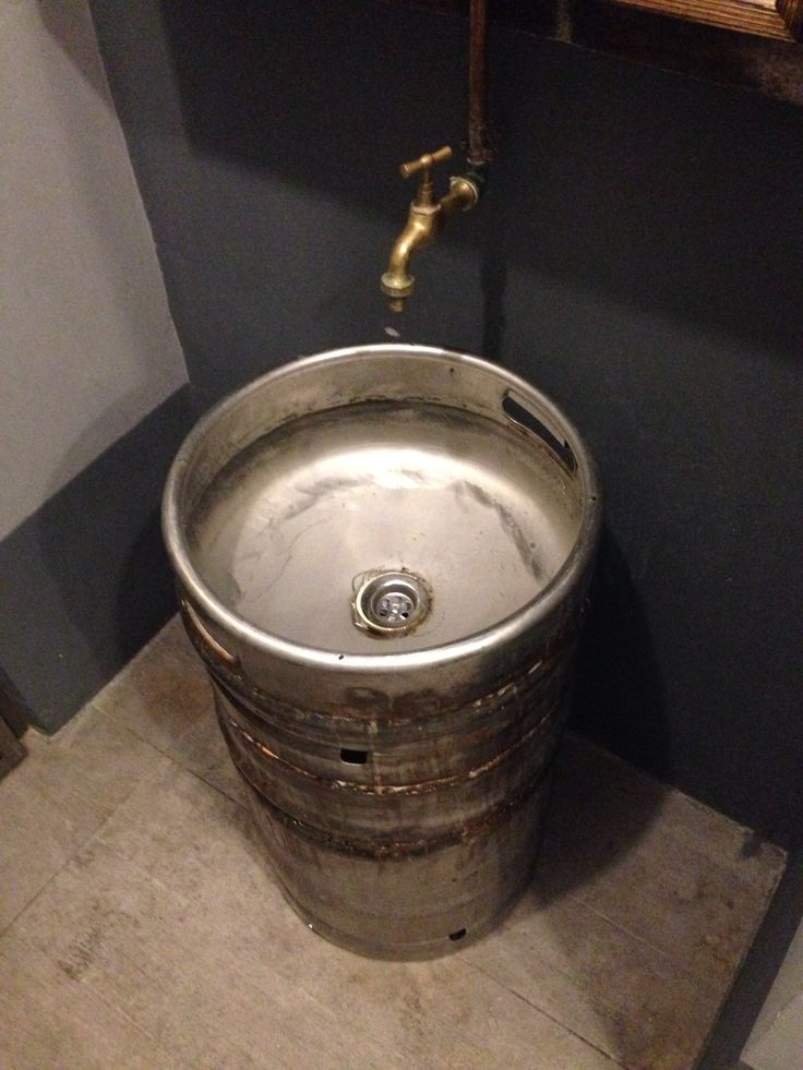 Cool sink idea from an old keg | The Keg Sink | Pinterest ...