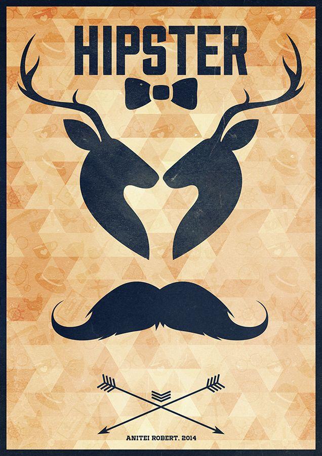 Hipster Poster by Anitei Robert (aka SpEEdyRoBy)
