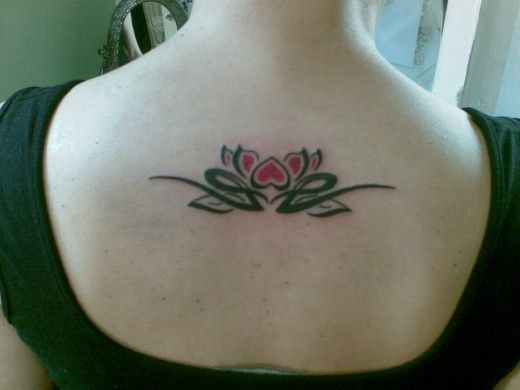 Louts Flower Tattoo for Young Girls