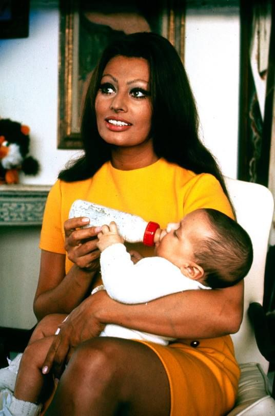 Sophia Loren with her son Carlo Jr.                                                                                                                                                      More