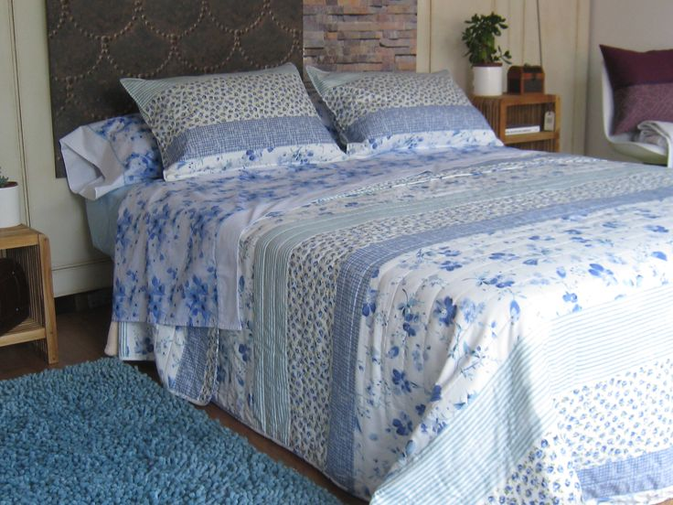 #showcase #bedroom #bouti #patchwork #blue #flowers