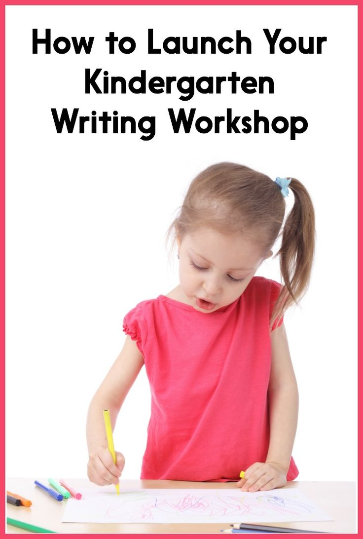 Help for writing workshop kindergarten