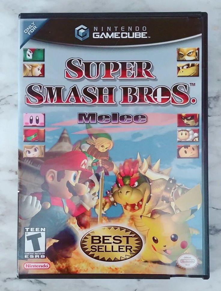 Nintendo GameCube SUPER SMASH BROS Melee *Black Label* Game Cube Game, Complete! #Nintendo