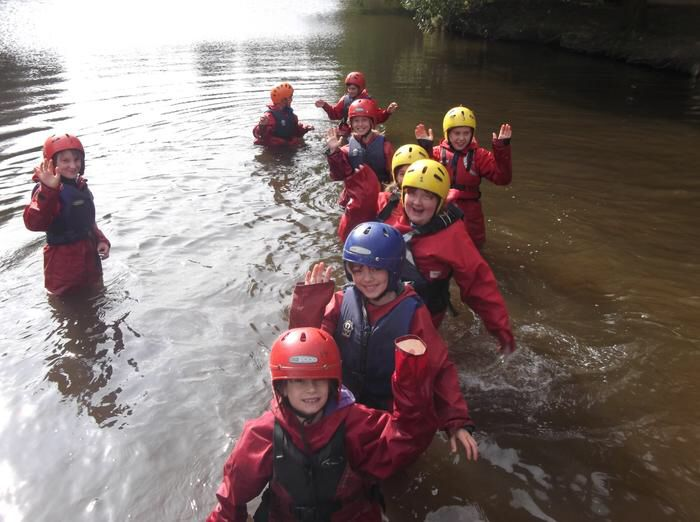 Year six camp in the water with sonny and Mhariri!