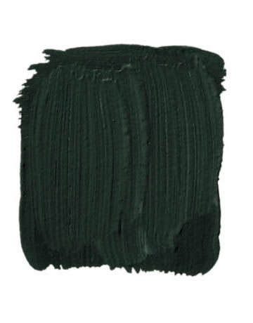 Essex Green by Benjamin Moore.  Paint wicker that doesn't have that original antique stain.  Rich, dark, works with all fabrics