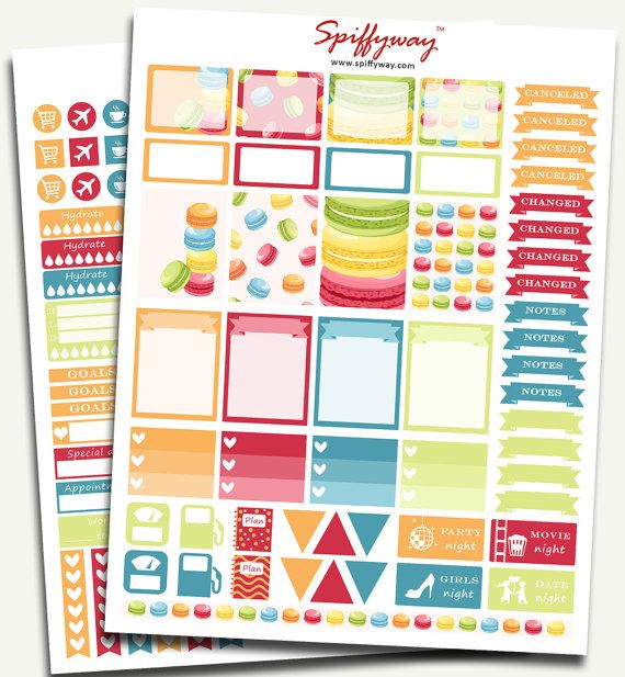 Printable Stickers Set  Planner Stickers  by Spiffyway https://www.etsy.com/listing/256943609/50-sale-printable-stickers-set-planner?ref=shop_home_listings