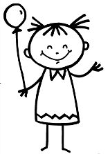 These cute Girl Stick Figures are easy to draw and color