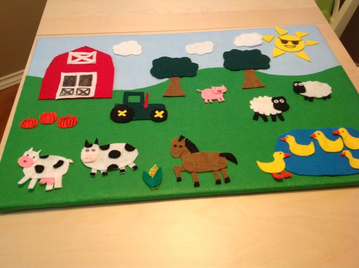 This looks like an easy to make felt board.  Beckett loves animals, and Old MacDonald's Farm song, so this should be a winner.