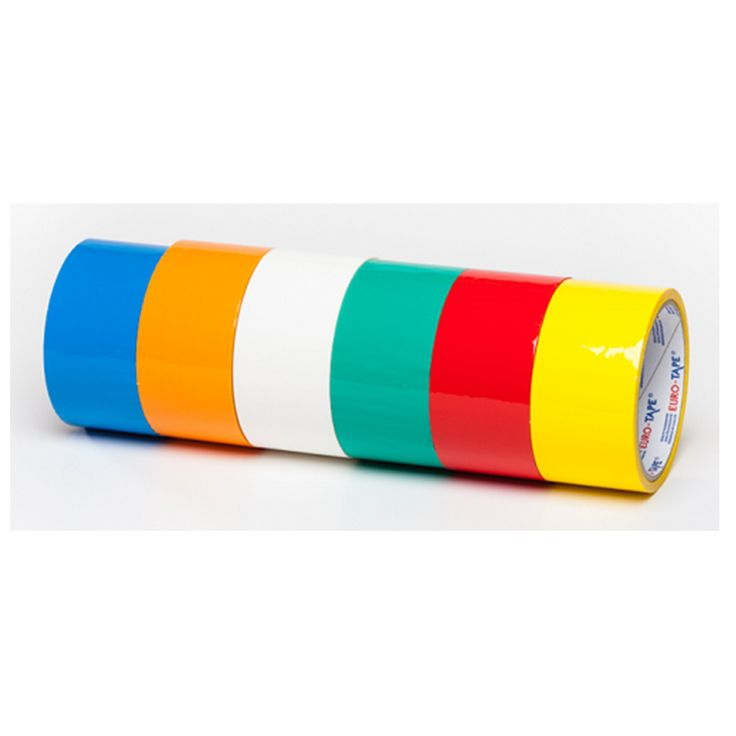 48mm single sided standard carton packing colored bopp