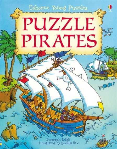 """Puzzle pirates"" at www.usborne.com/pirates  #pirates #children #books #Usborne #puzzle"
