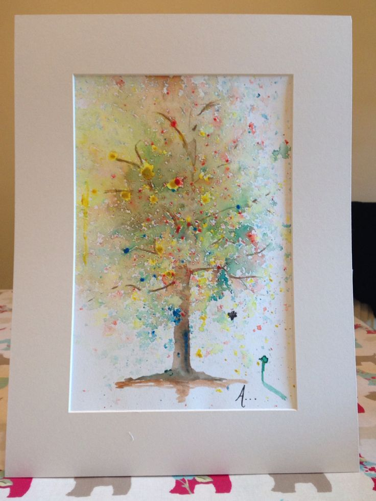 Commissioned piece - family tree - watercolour