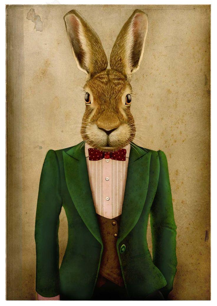 картинки кролик в костюме это