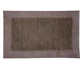 Tappeto in cuoio e cotone Geo tabacco/naturale - 300x400 cm