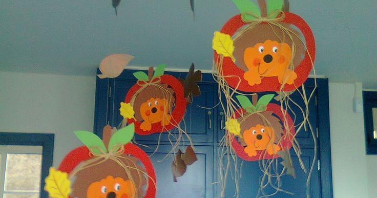 Mobís com ouriços, folhas, saquinhos de pão por Deus, árvores de Outono !