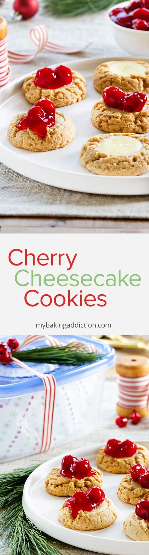 Cherry Cheesecake Cookies have all the flavors of traditional cheesecake - in cookie form. They're sure to become a new favorite!