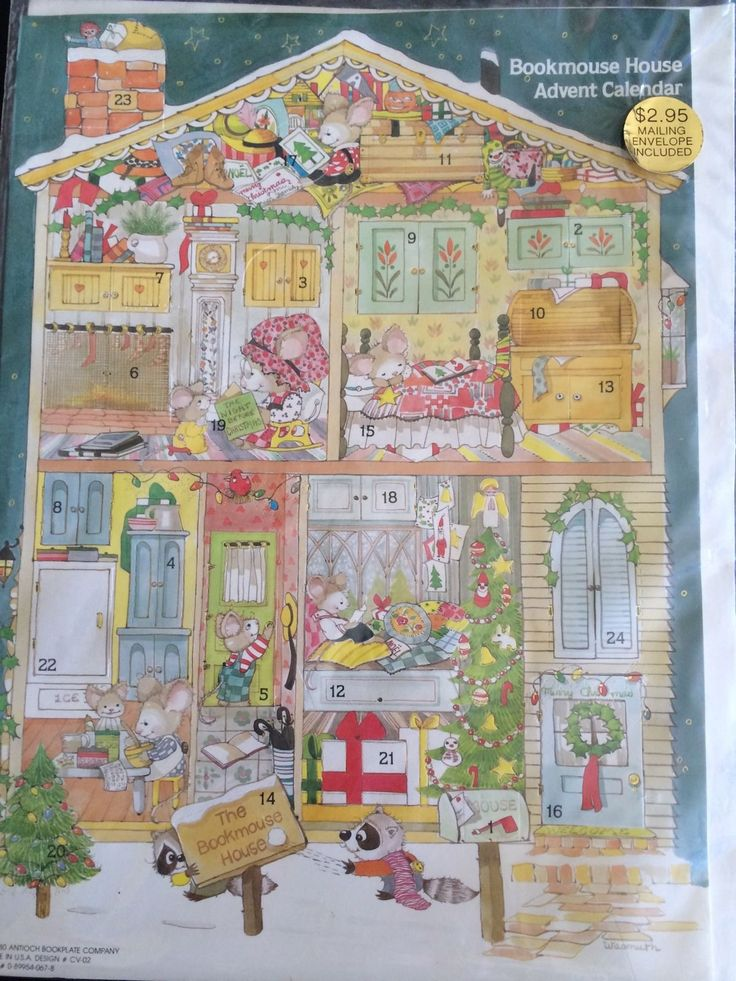Vintage 1980 bookmouse house christmas advent calendar - Pinterest advent ...