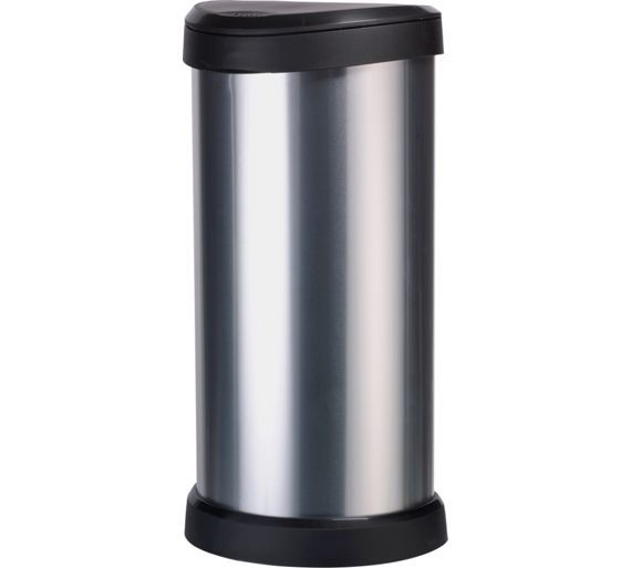 £29.99 Curver 40 Litre Deco Touch Top Kitchen Bin - Silver at Argos.co.uk