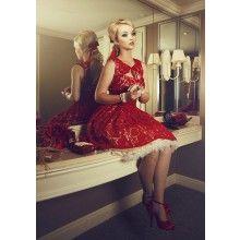 La Fille en Rouge Peekaboo Dress - $329.00