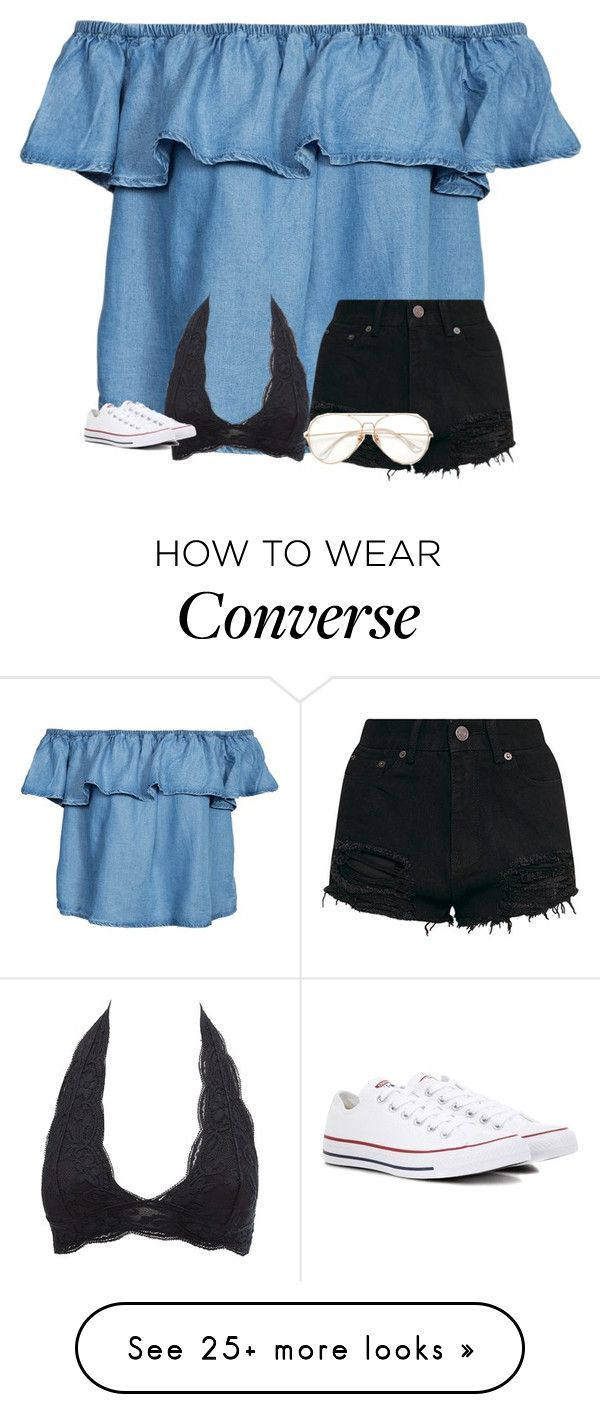 """Untitled #3750"" by laurenatria11 on Polyvore featuring New Look, Charlotte Russe and Converse"