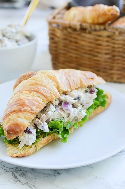 Cranberry Turkey Salad - perfect way to use leftover Thanksgiving turkey!